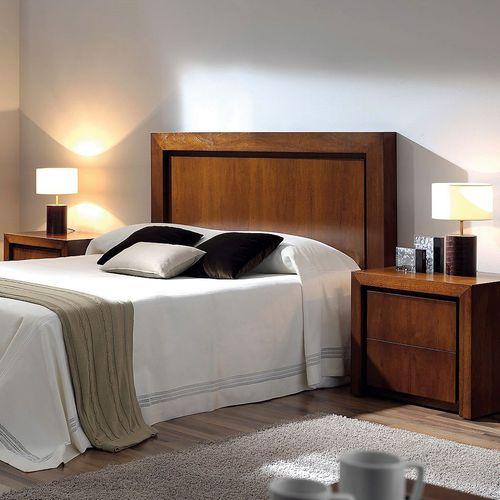 double bed headboard / contemporary / walnut / beech
