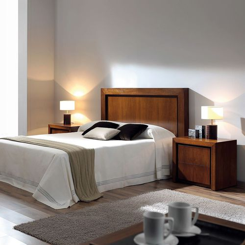double bed headboard / contemporary / beech / walnut