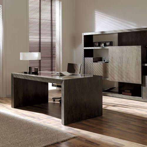 executive desk / walnut / beech / contemporary