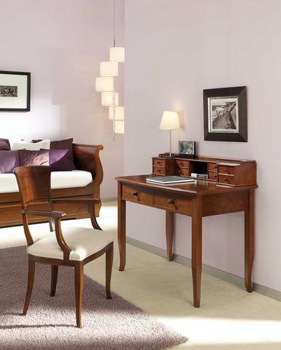 traditional secretary desk / walnut / beech / with storage