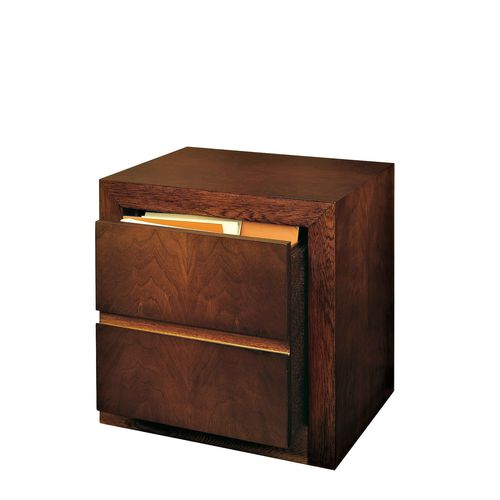 low filing cabinet / walnut / beech / contemporary