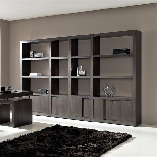 contemporary shelf / wooden / with storage compartment