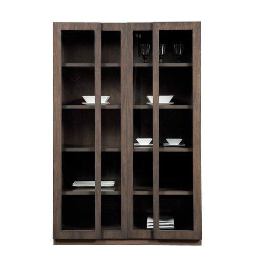contemporary china cabinet / walnut / beech