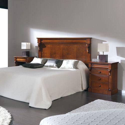 double bed headboard / Victorian / walnut / beech