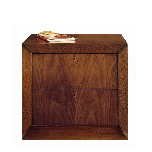 contemporary bedside table / walnut / beech / rectangular