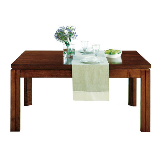 contemporary dining table / walnut / beech / rectangular