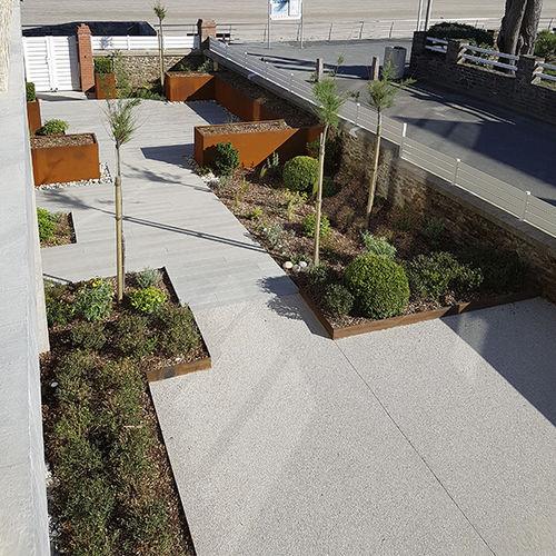 wall edge / garden / for landscaping / COR-TEN® steel