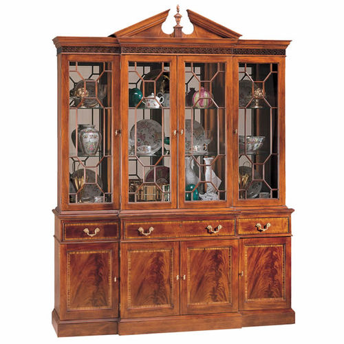 Classic china cabinet / mahogany GEORGIAN BREAKFRONT 4782 STICKLEY