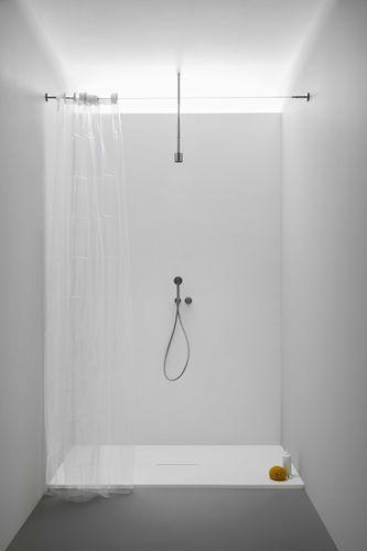 rectangular shower base / Corian® / extra-flat / non-slip