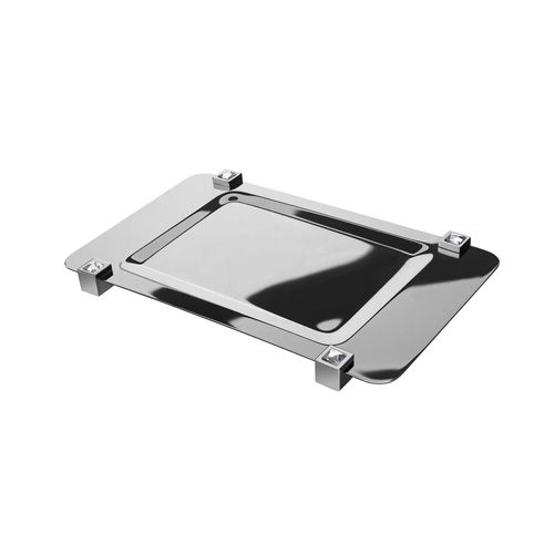 chromed metal serving tray / commercial