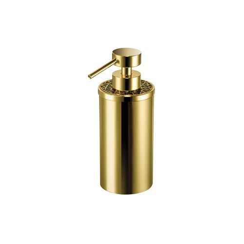 commercial soap dispenser / free-standing / brass / Swarovski® crystal