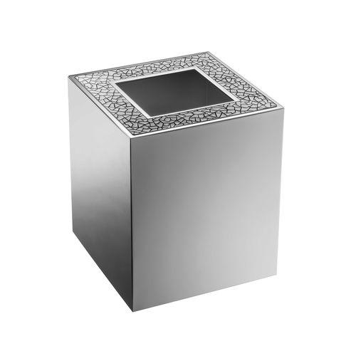 bathroom trash can / brass / Swarovski® crystal / contemporary