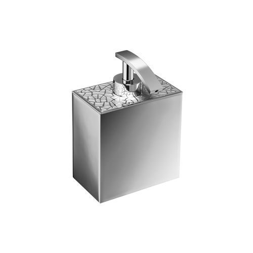 commercial soap dispenser / free-standing / chrome-plated brass / gold-plated brass