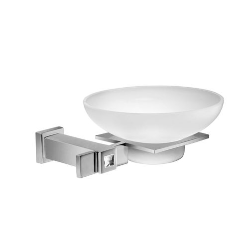 wall-mounted soap dish / brass / crystal / Swarovski® crystal