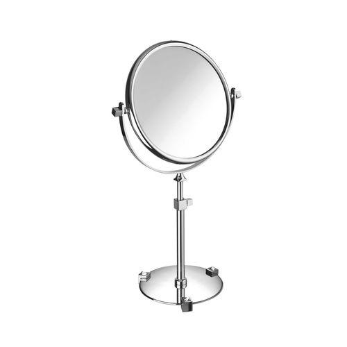 floor-standing bathroom mirror / tilting / contemporary / round