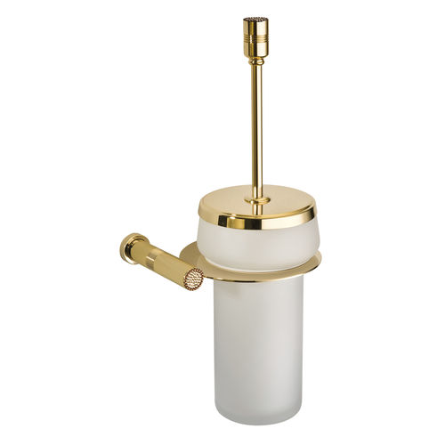 glass toilet brush / wall-mounted / for hotels