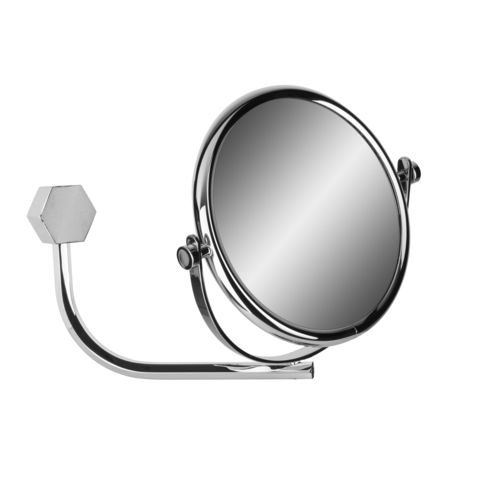 wall-mounted bathroom mirror / double-sided / original design / round
