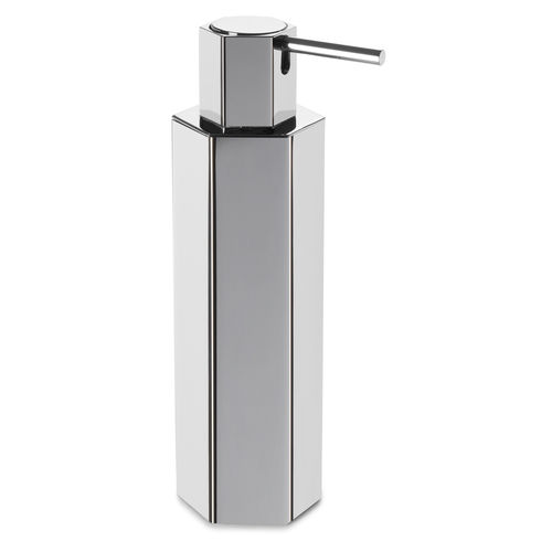free-standing soap dispenser / chrome / manual