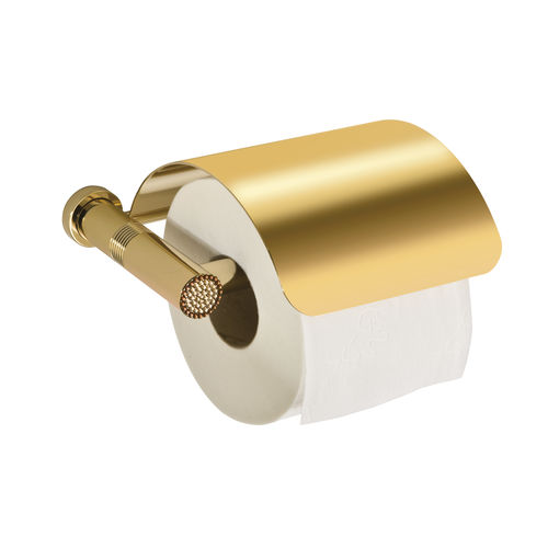 wall-mounted toilet paper dispenser / brass / commercial