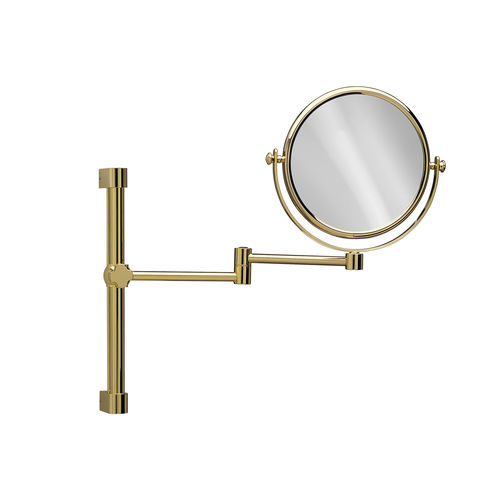wall-mounted bathroom mirror / magnifying / contemporary / round
