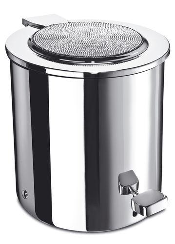 bathroom bin / floor-mounted / metal / contemporary