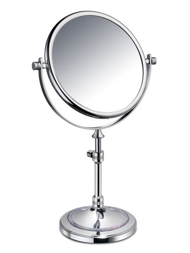 table bathroom mirror / double-sided / magnifying / classic