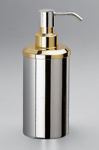 commercial soap dispenser / free-standing / brass / manual