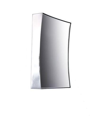 wall-mounted bathroom mirror / magnifying / contemporary / rectangular
