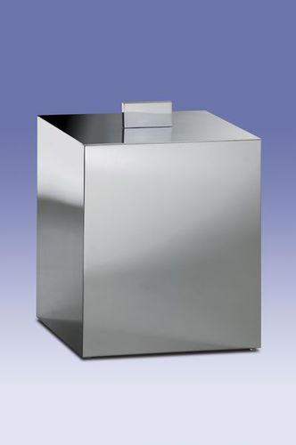 bathroom bin / floor-mounted / metal / contemporary