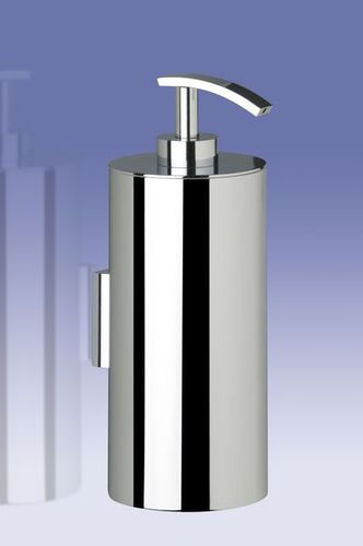 commercial soap dispenser / wall-mounted / brass / manual