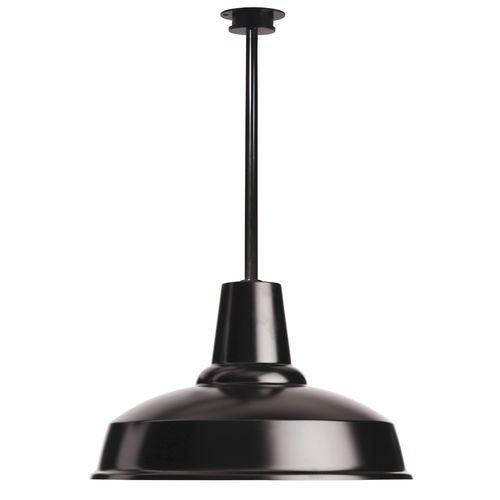 industrial style ceiling light / round / aluminum / LED