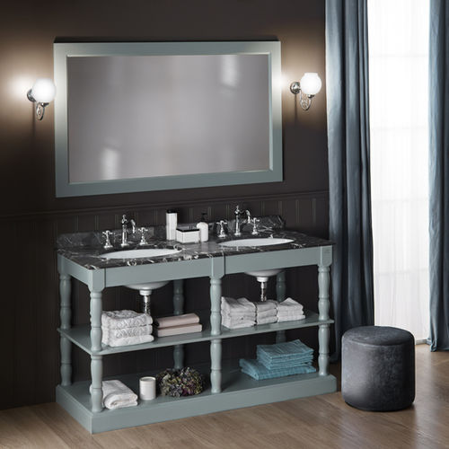 wooden washbasin stand / marble