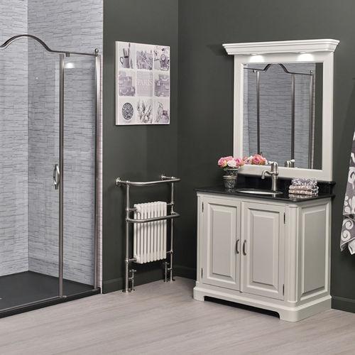 free-standing washbasin cabinet / wooden / marble / quartz