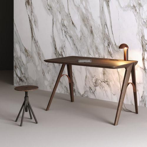 oak desk / walnut / steel / contemporary
