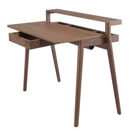 oak desk / walnut / contemporary / with storage