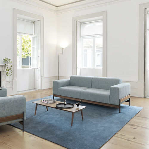 contemporary sofa / living room / fabric / oak