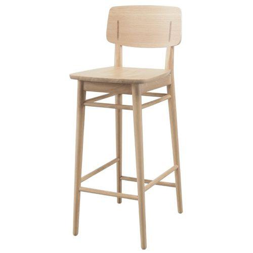 contemporary bar chair / oak / walnut / black