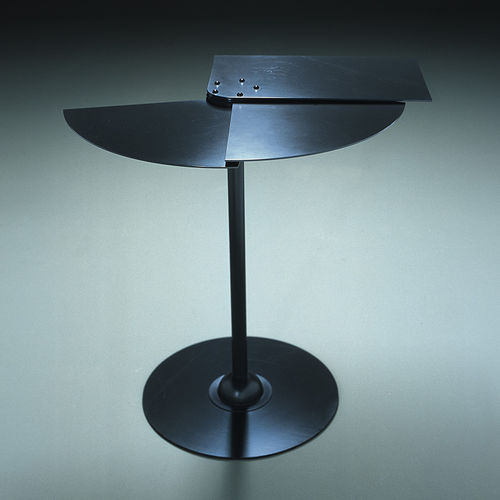 Pierre Chareau table / contemporary / sheet steel / lacquered steel