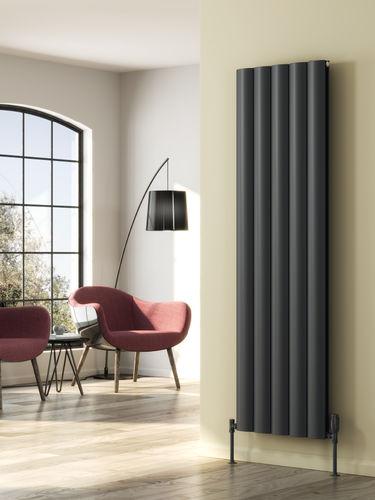 hot water radiator / aluminum / contemporary / vertical