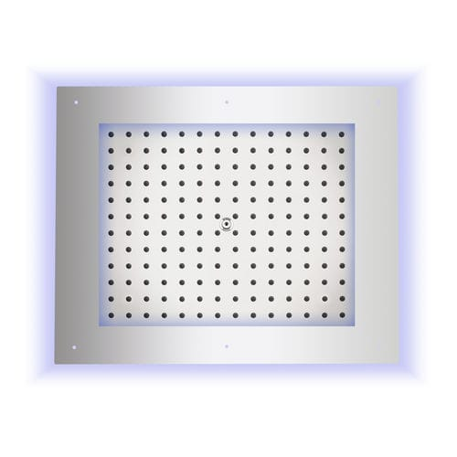 shower head with chromotherapy / ceiling-mounted / rectangular / rain
