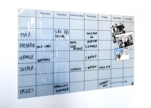 Magnetic board / wall-mounted / glass PLANNER CHAT BOARD®