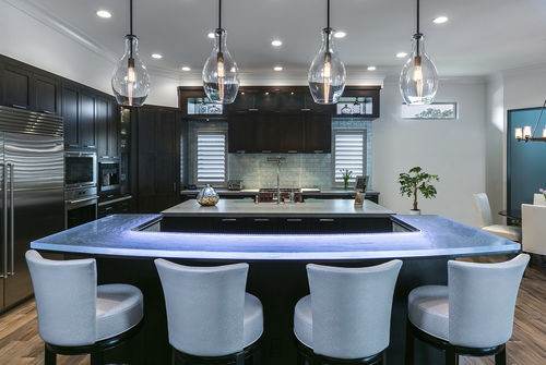 Kitchen counter / bar / glass / L-shaped 3 ThinkGlass
