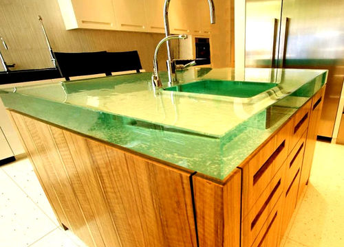 Glass countertop / kitchen CRYSTAL BLOC ThinkGlass