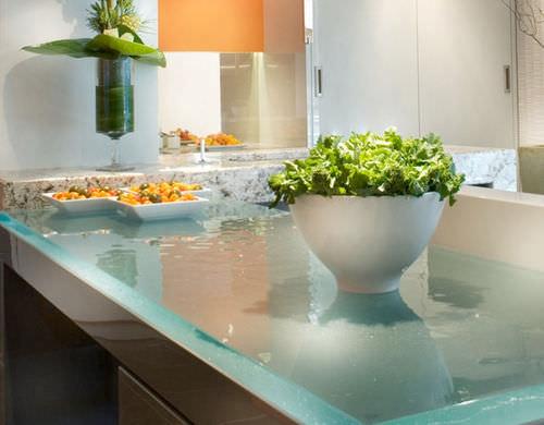 Glass countertop / kitchen SLEEK GLASS ThinkGlass