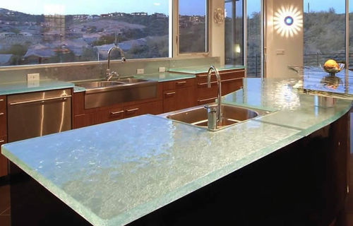 Glass countertop / kitchen CLEAN & CONTEMPORARY ThinkGlass