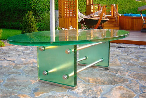 contemporary table - ThinkGlass