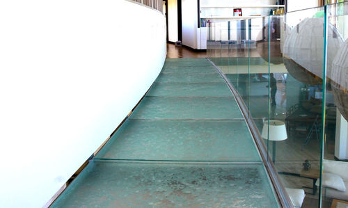 patterned glass panel / for flooring / high-resistance / translucent