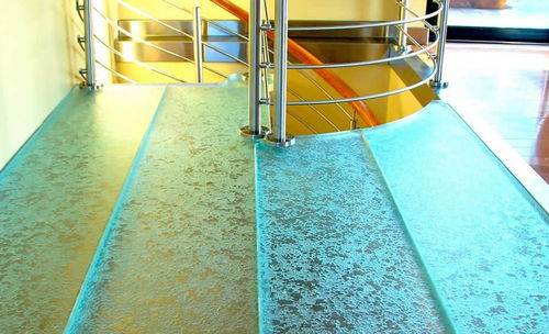 Glass flooring / commercial / residential / tile OCEAN FEELINGS ThinkGlass