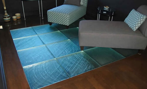 Patterned glass panel / for floors / high-resistance / translucent THE FINAL TOUCH ThinkGlass