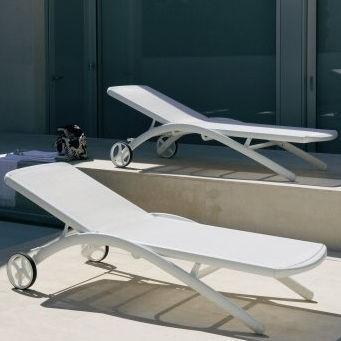 contemporary sun lounger / aluminum / outdoor